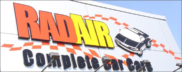 Rad Air Complete Car Care Sign