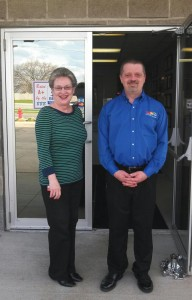 Joanie and Eric pose outside of Rad Air Garfield Heights.