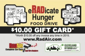 RadAir Eradicate Hunger Gift Card - 1