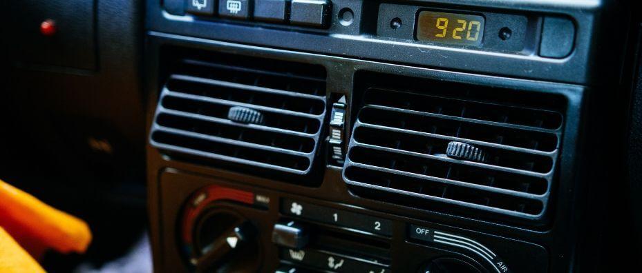 car air vents and dashboard