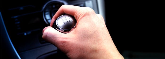 Hand on Gearshift