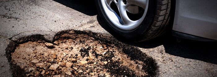 Large Pothole in Road