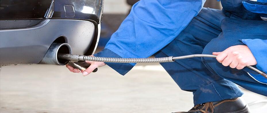 Emission Check on Car